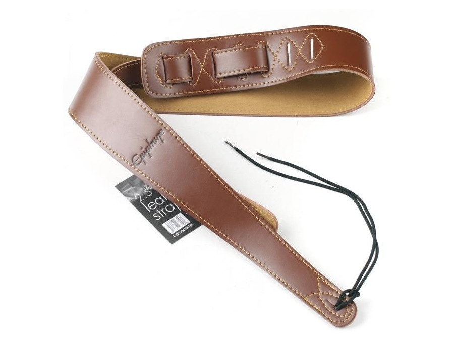 Epiphone leather guitar strap brown xl
