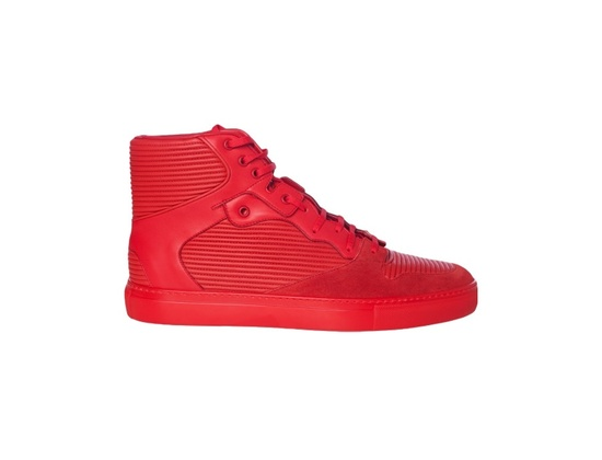Balenciaga Pleated High Top Sneaker