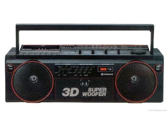 Hitachi trk-3d2e radio cassette recorder