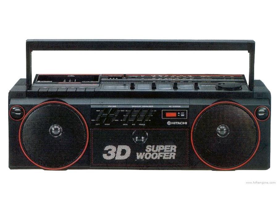 Hitachi trk 3d2e radio cassette recorder xl