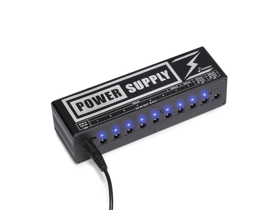 Donner dp 2 guitar pedal power supply xl