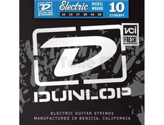 Dunlop den1052 electric nickel guitar strings light top heavy bottom 10 52 s