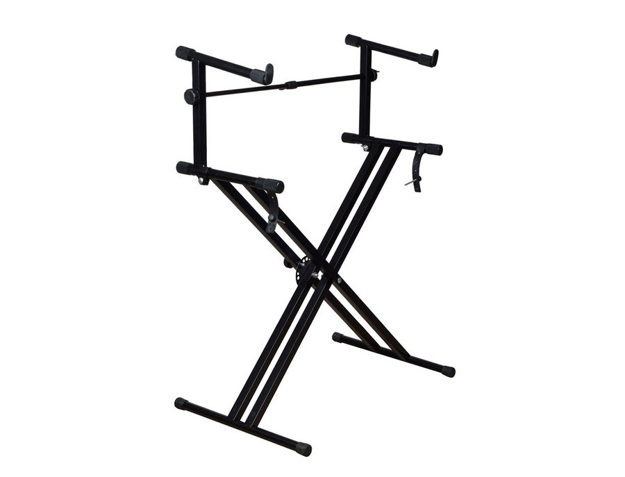Double tier x style generic keyboard stand xl