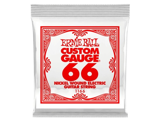 Ernie Ball Custom Gauge Nickel Wound Electric Guitar Single String .066