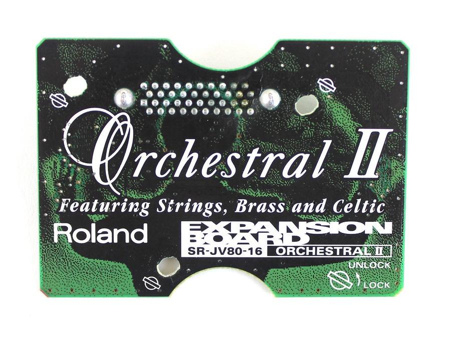 Roland sr jv80 16 orchestral ii expansion board xl