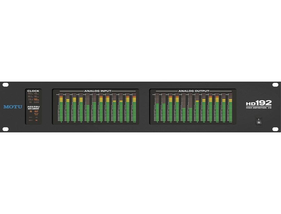Motu hd192 audio interface xl