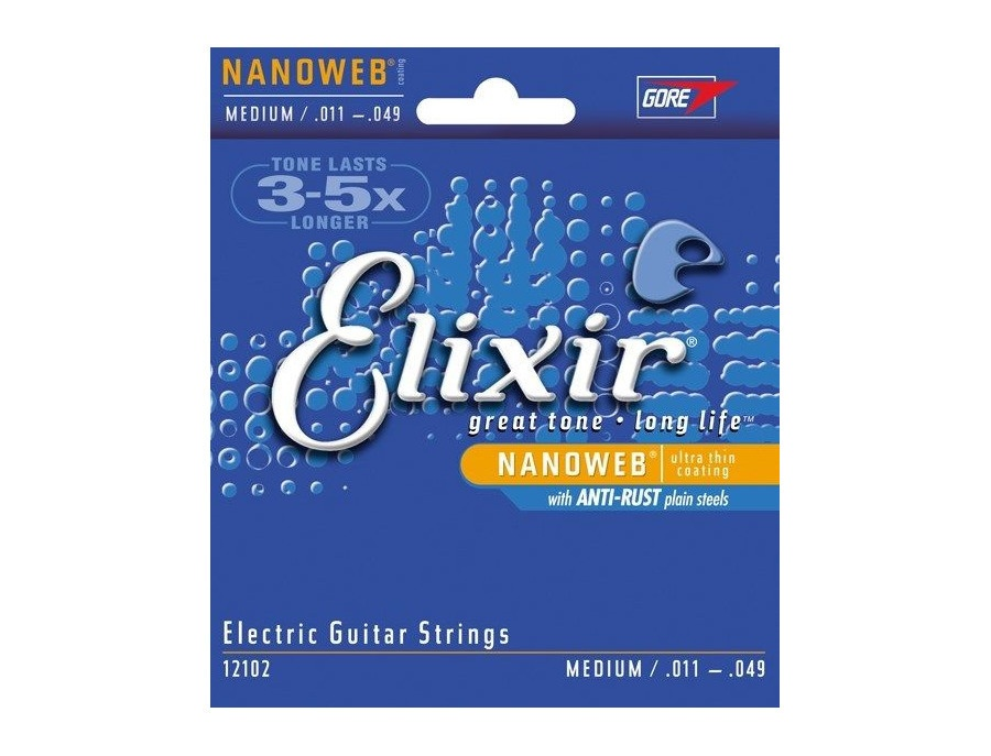 Elixir Electric Nickel Plated Steel with NANOWEB Coating .011-.049