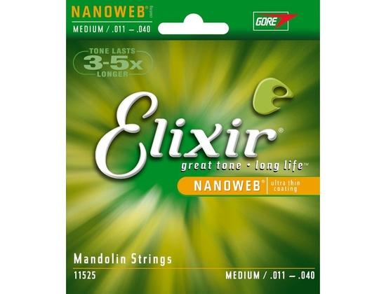 Elixir Nanoweb Mandolin Strings (Medium: .011-.040)