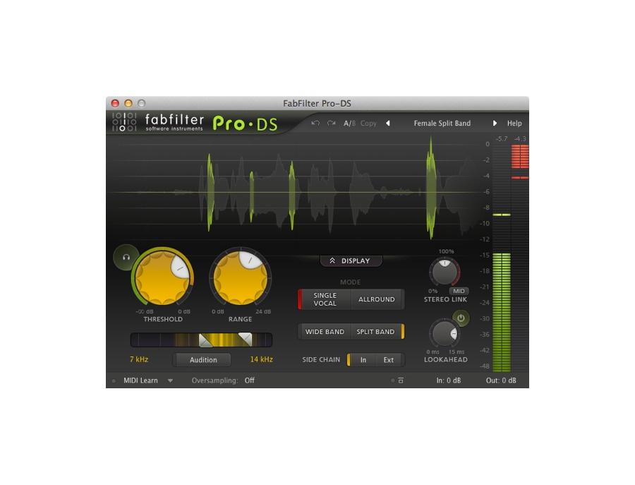 FabFilter Pro-DS De-Esser Plugin