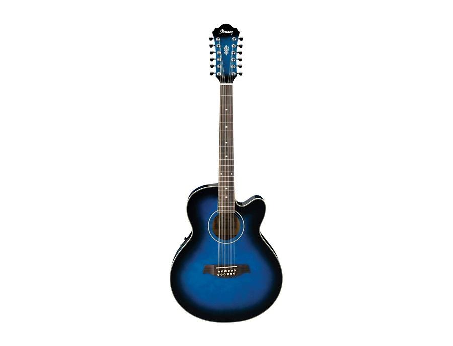 ibanez ael152etbs 12 string cutaway acoustic electric guitar transparent blue sunburst reviews. Black Bedroom Furniture Sets. Home Design Ideas