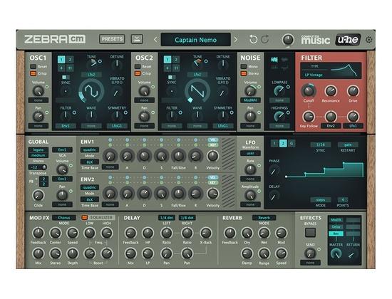 U He Zebracm Software Synthesizer Free Vst Au Plugin