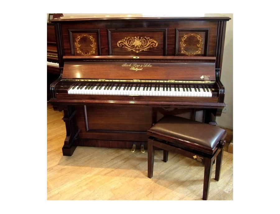 Richard lipp and und sohn antique german upright piano xl