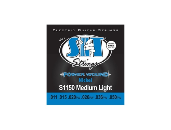 SIT Strings S1150 Medium Light Power Wound Nickel Electric Guitar Strings