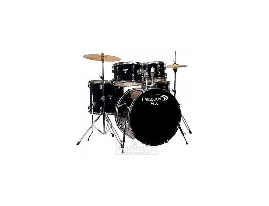 Percussion plus 5 piece black drum set xl