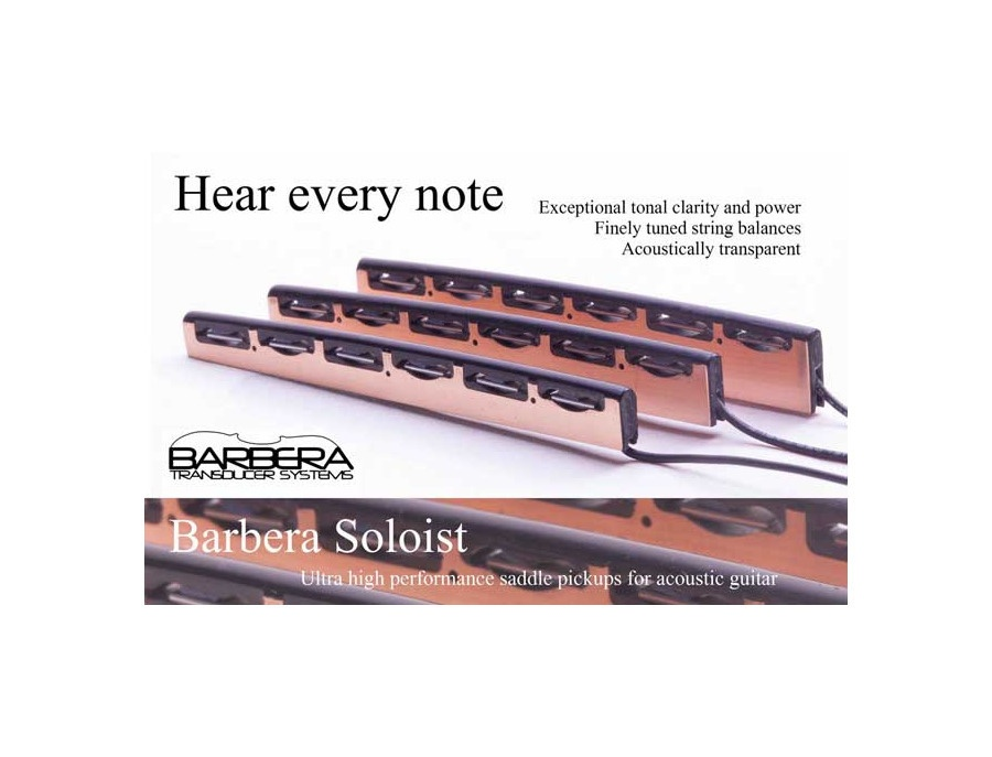 barbera soloist acoustic guitar pickup reviews prices equipboard. Black Bedroom Furniture Sets. Home Design Ideas