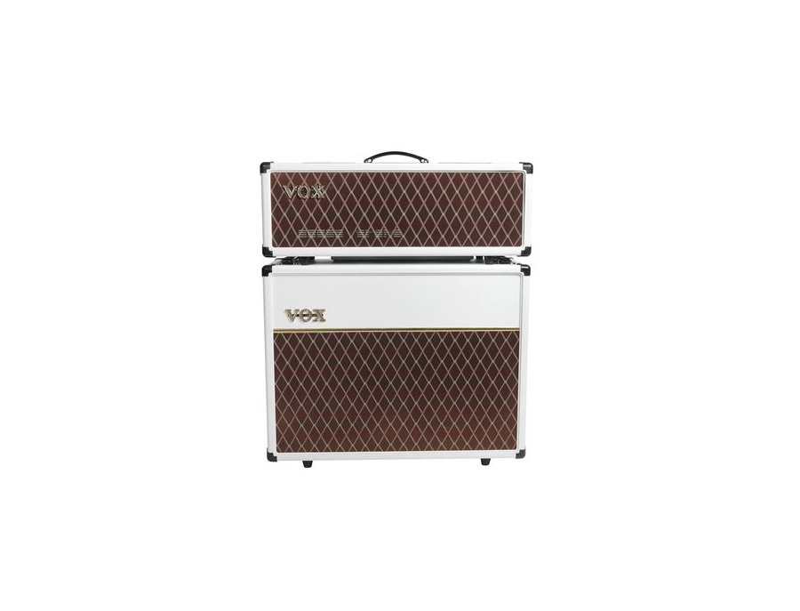 """Vox AC30C Head and 2x12"""" Cabinet - Limited White Bronco"""