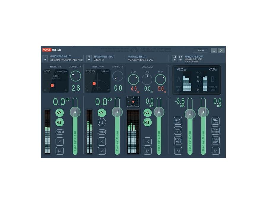 vb audio voicemeeter virtual audio mixer reviews prices equipboard. Black Bedroom Furniture Sets. Home Design Ideas