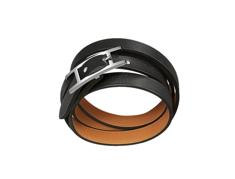 Hermes Hapi Leather Bracelet