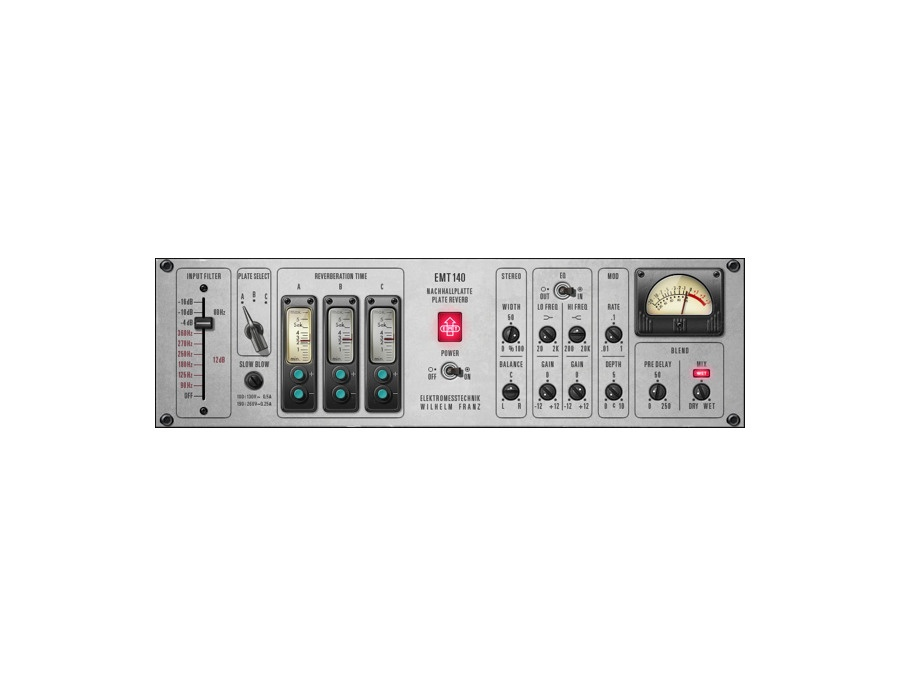 Universal Audio EMT 140 Classic Plate Reverberator Plugin