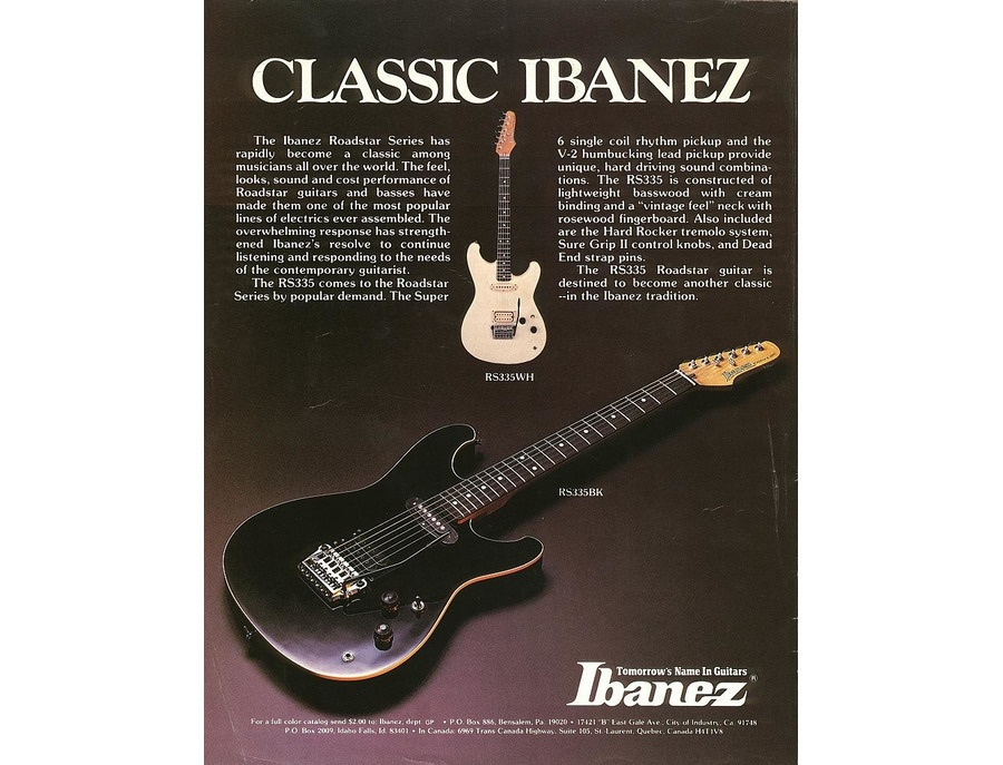 Ibanez roadstar rs335wh xl