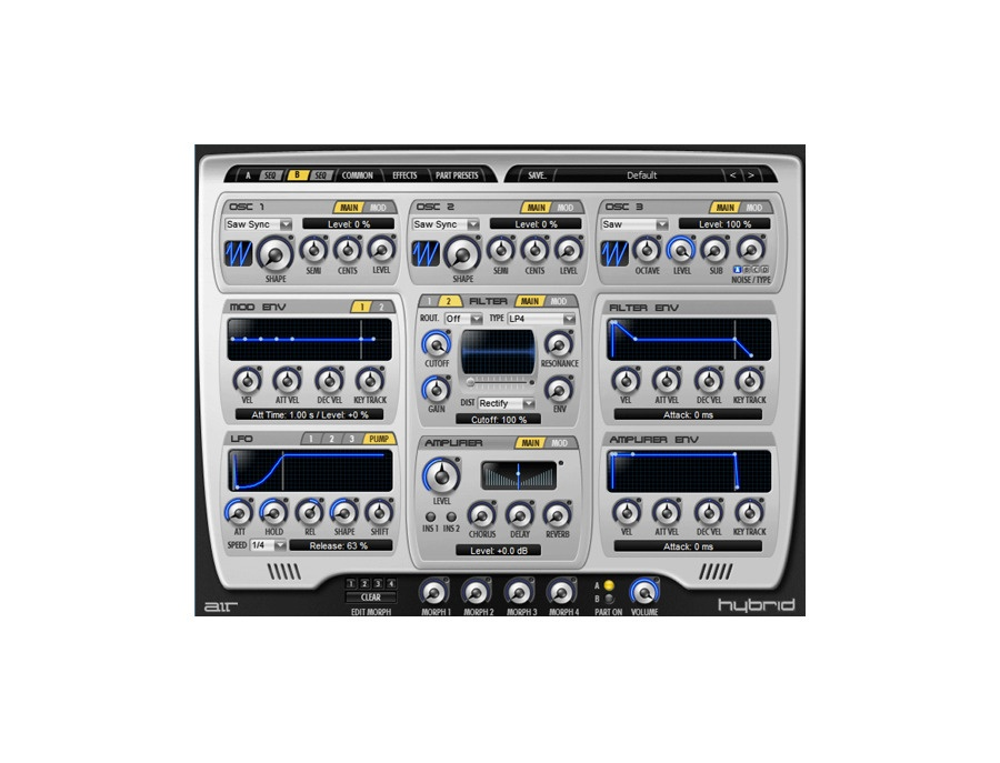 Hybrid by air music technology high definition synthesizer xl