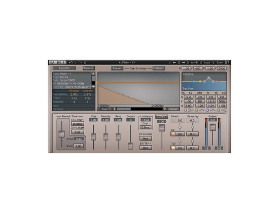 Waves IR1 Convolution Reverb Plugin
