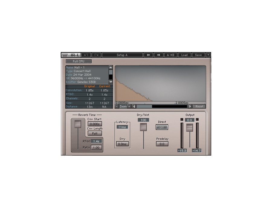 Waves IR-L Convolution Reverb Plugin