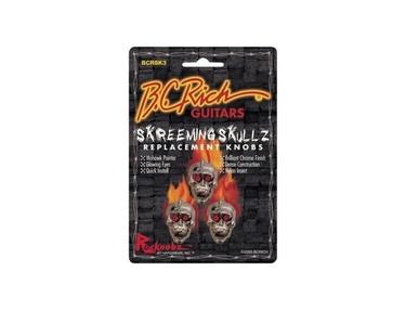 BC Rich Guitars Skreeming Skullz Skull Knob 3 Pack