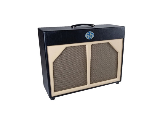 65 Amps 2x12 Guitar Speaker Cabinet Blue Line Black