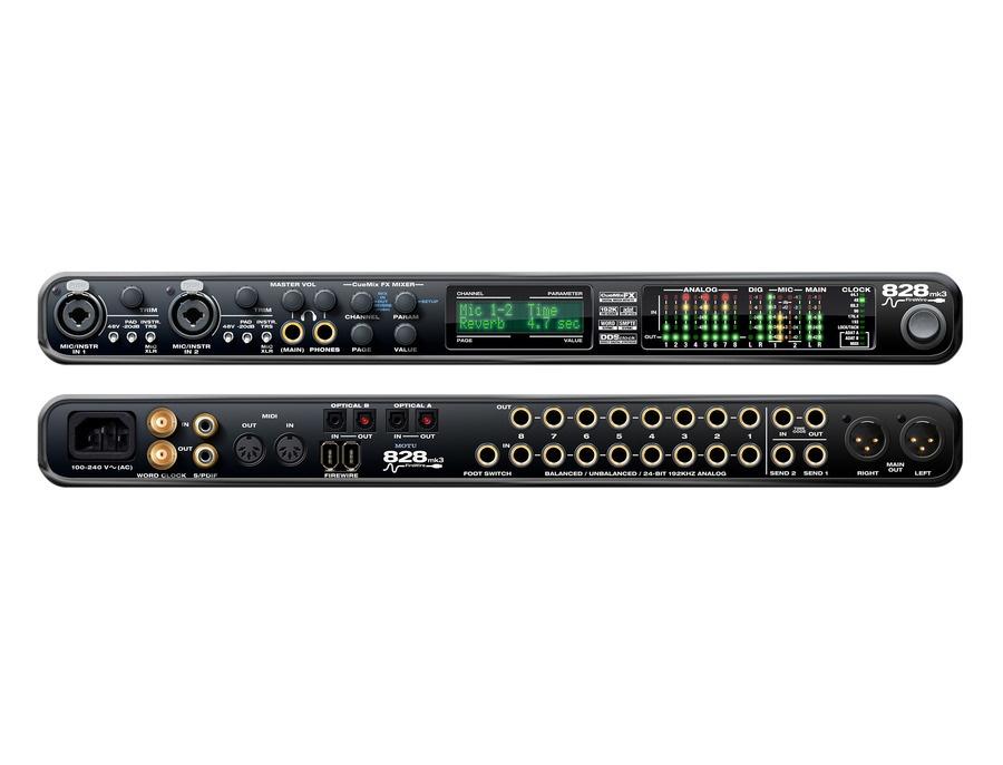 MOTU 828mk3 Firewire Audio Interface