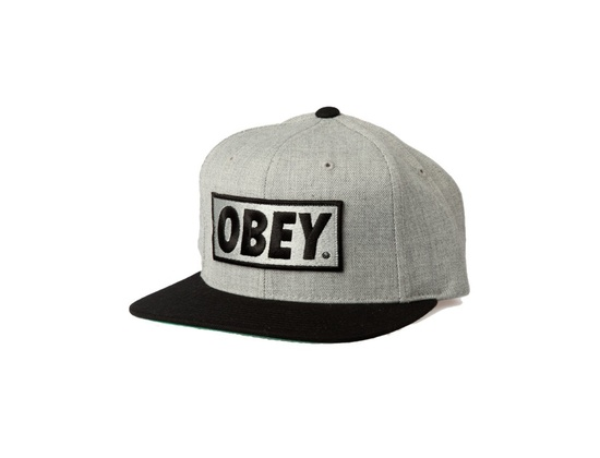 OBEY Original Snapback Hat (Heather Grey)