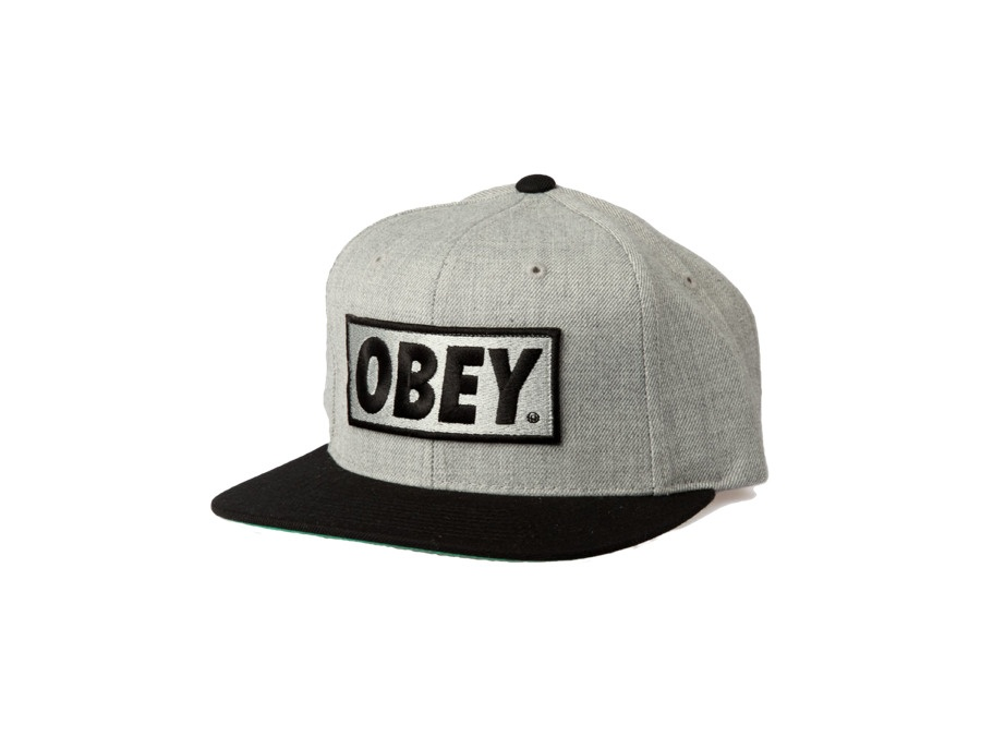 OBEY Original Snapback Hat (Heather Grey)
