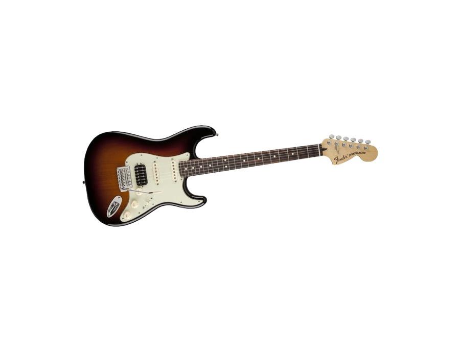 Fender deluxe lonestar stratocaster electric guitar 3 tone sunburst xl