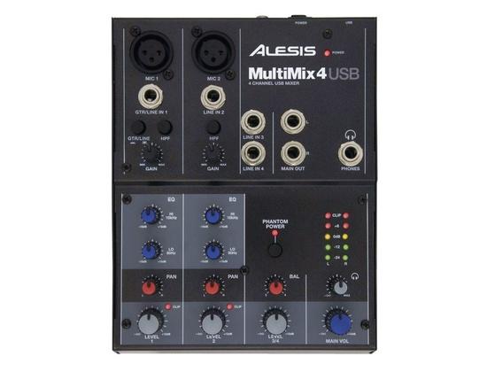 Alesis MultiMix 4 Four-Channel USB Mixer