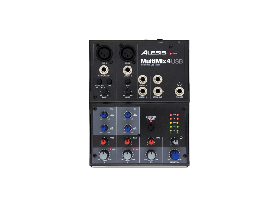 Alesis MultiMix 4 Four-Channel USB Mixer