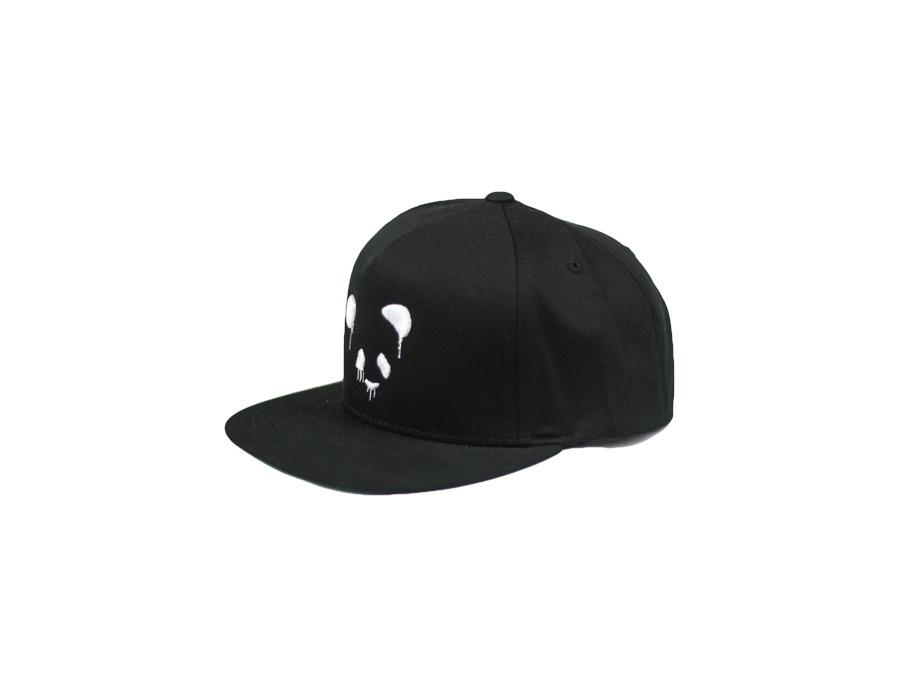 Panda Funk Snapback Black with White Panda Funk Logo