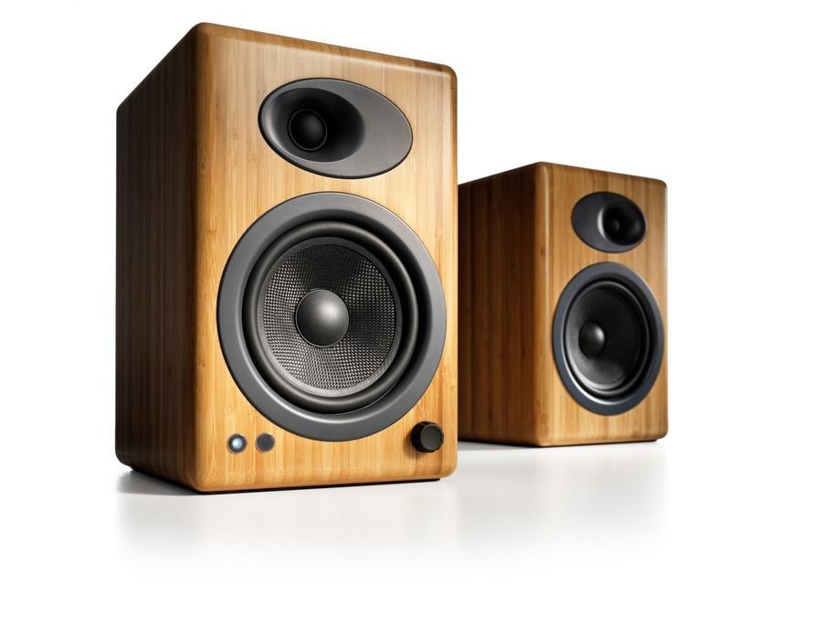 Audioengine A5+ Powered Speakers, Bamboo