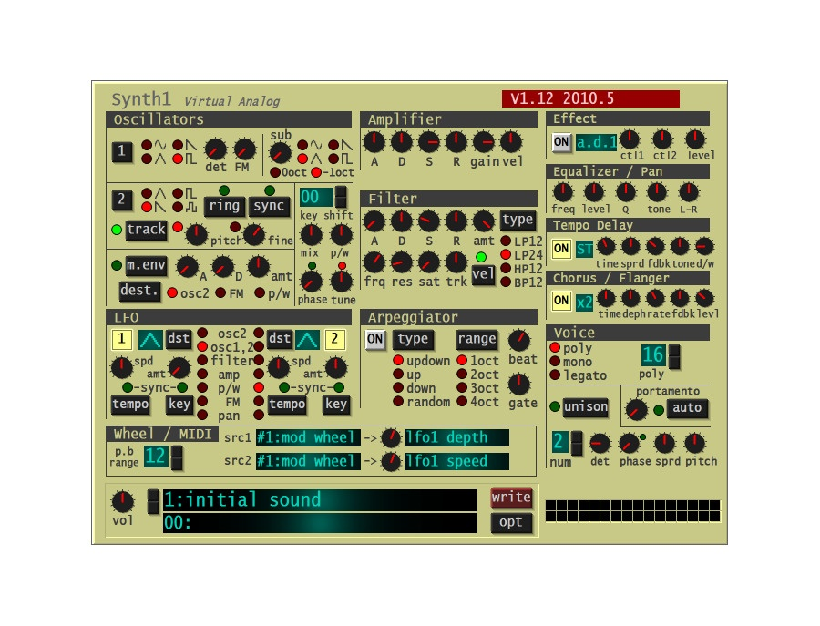 Synth1 by ichiro toda software synthesizer xl
