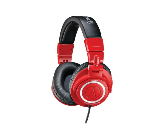 Audio Technica ATHM50RD Pro DJ Headphones - Red