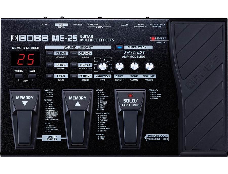 Boss me25 guitar multi effects pedal xl