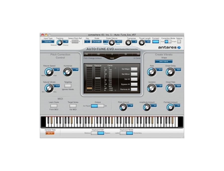Antares auto tune evo pitch correcting plugin xl