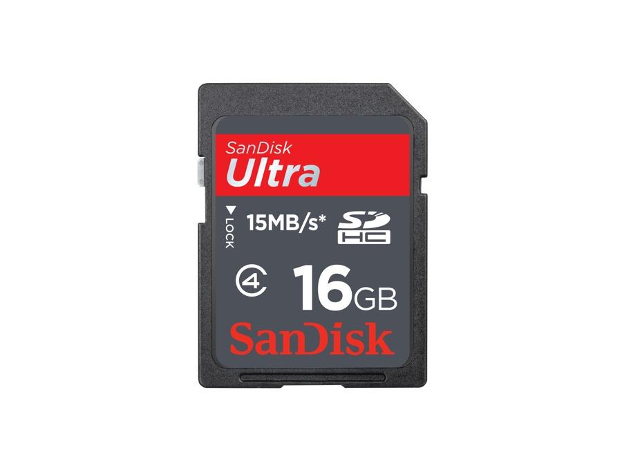 Sandisk Ultra SDHC Memory Card 16GB