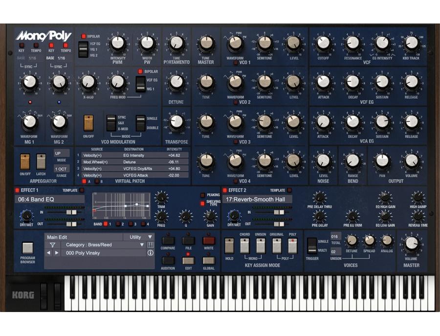 Korg Mono/Poly Software Synthesizer