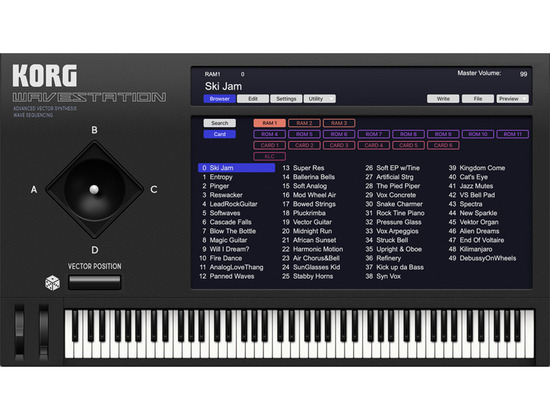 Korg WAVESTATION Software Synthesizer