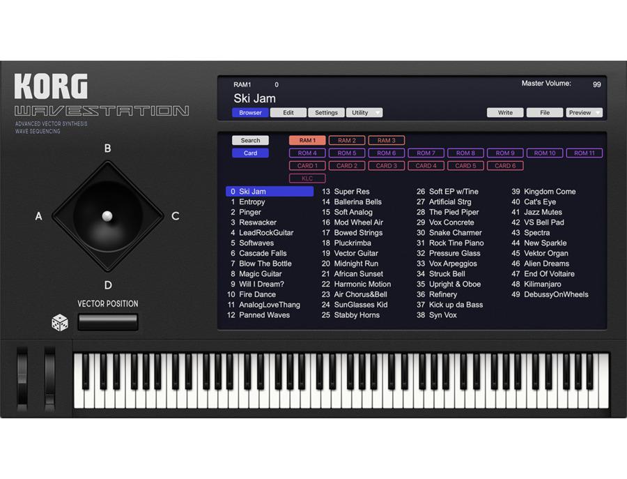 Korg WAVESTATION Software Synthesizer