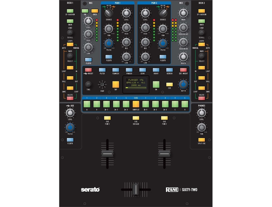 Rane sixty two performance mixer with serato live xl
