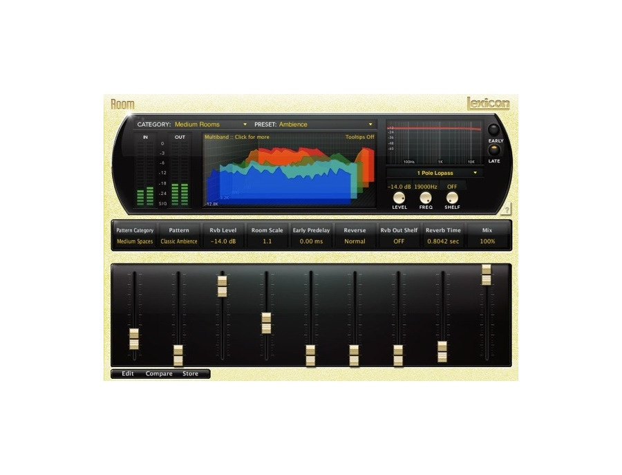 Lexicon pcm native room reverb xl