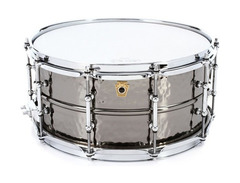 Ludwig hammered black beauty snare drum 6 5 x 14 s