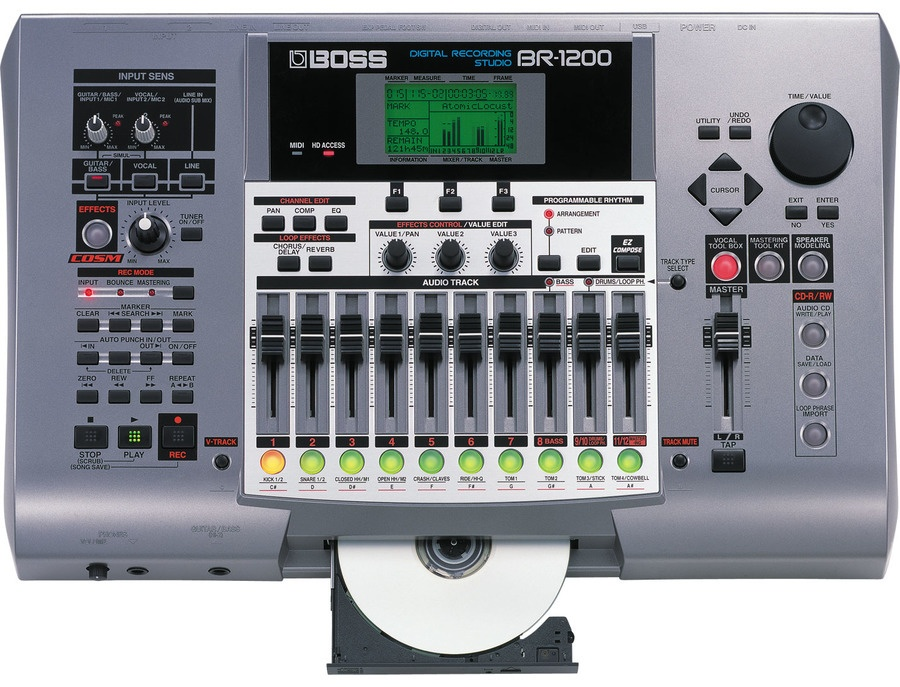 Boss br 1200cd digital recording studio xl