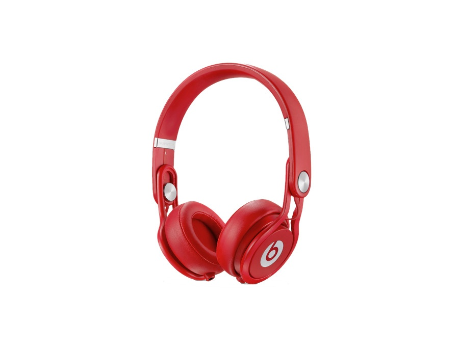 Beats by dr dre mixr on ear headphones red xl